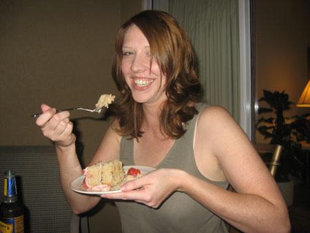 The Birthday Girl enjoys the Kondo Kreation