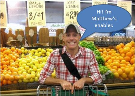 Meet Josh, my food dealer.