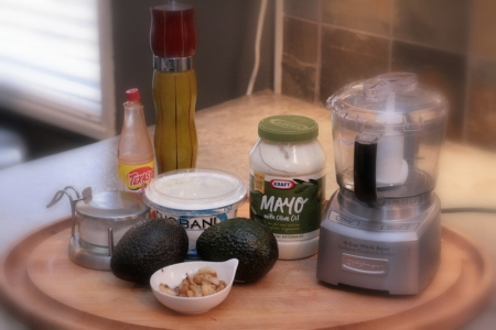 The makings of a great avocado spread